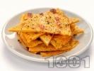 Рецепта Лесни безглутенови палачинки / питки / хлебчета с брашно от нахут, зехтин, вода и сол на тиган (без яйца и без мляко)